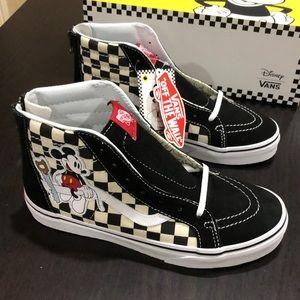 Vans Sk8-Hi Zip Disney Mickey Checkerboard